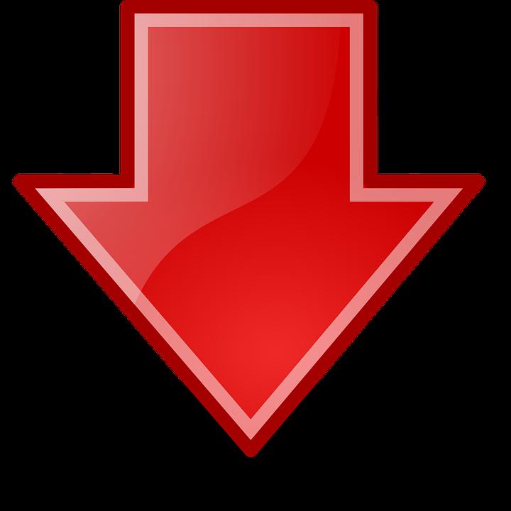 freccia rossa basso